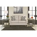 Ashley/Benchcraft Guillerno Contemporary Loveseat with Coil Seat Cushions