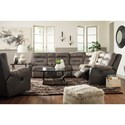 Benchcraft Hacklesbury Reclining Living Room Group - Item Number: 55502 Living Room Group 1