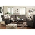 Benchcraft Hacklesbury Reclining Living Room Group - Item Number: 55502 Living Room Group 2