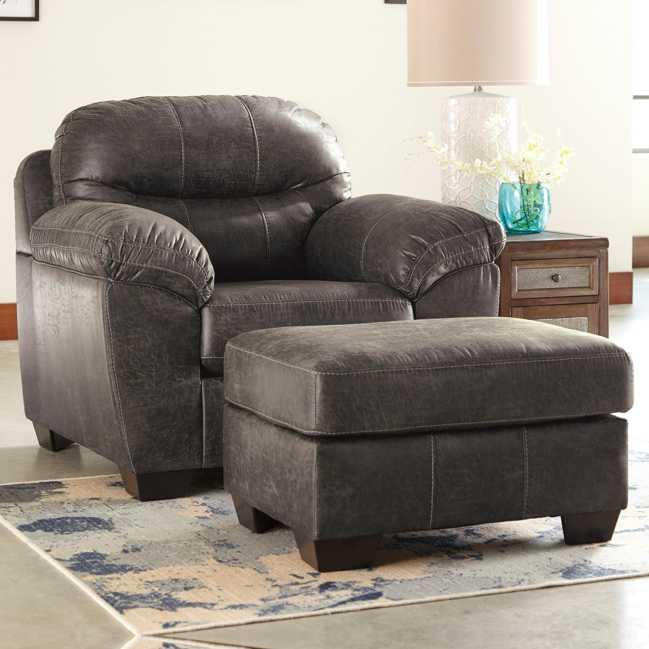 Benchcraft Havilyn Chair & Ottoman - Item Number: 3370520+14