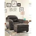 Benchcraft Havilyn Gray Faux Leather Chair with Coil Seat Cushion