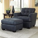 Ashley/Benchcraft Inmon Chair & Ottoman - Item Number: 6580620+14