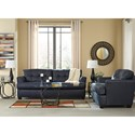 Ashley/Benchcraft Inmon Faux Leather Queen Sofa Sleeper with Tufted Back