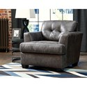 Ashley/Benchcraft Inmon Faux Leather Chair & Ottoman