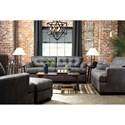Benchcraft Inmon Faux Leather Loveseat with Tuft Back