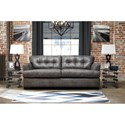 Benchcraft Inmon Faux Leather Queen Sofa Sleeper with Tufted Back