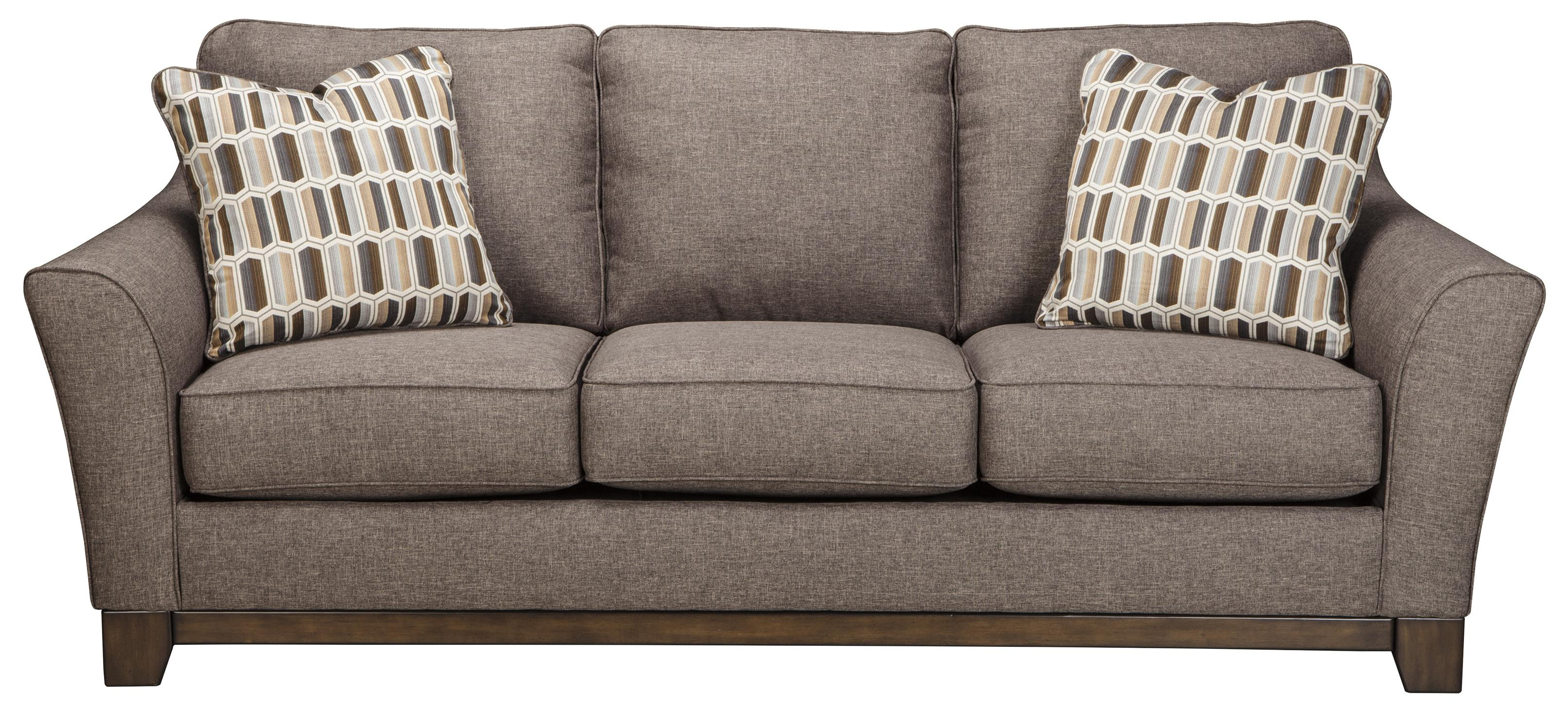 Benchcraft Janley Contemporary Sofa With Front Wood Rail Michael 39 S Furniture Warehouse Sofas