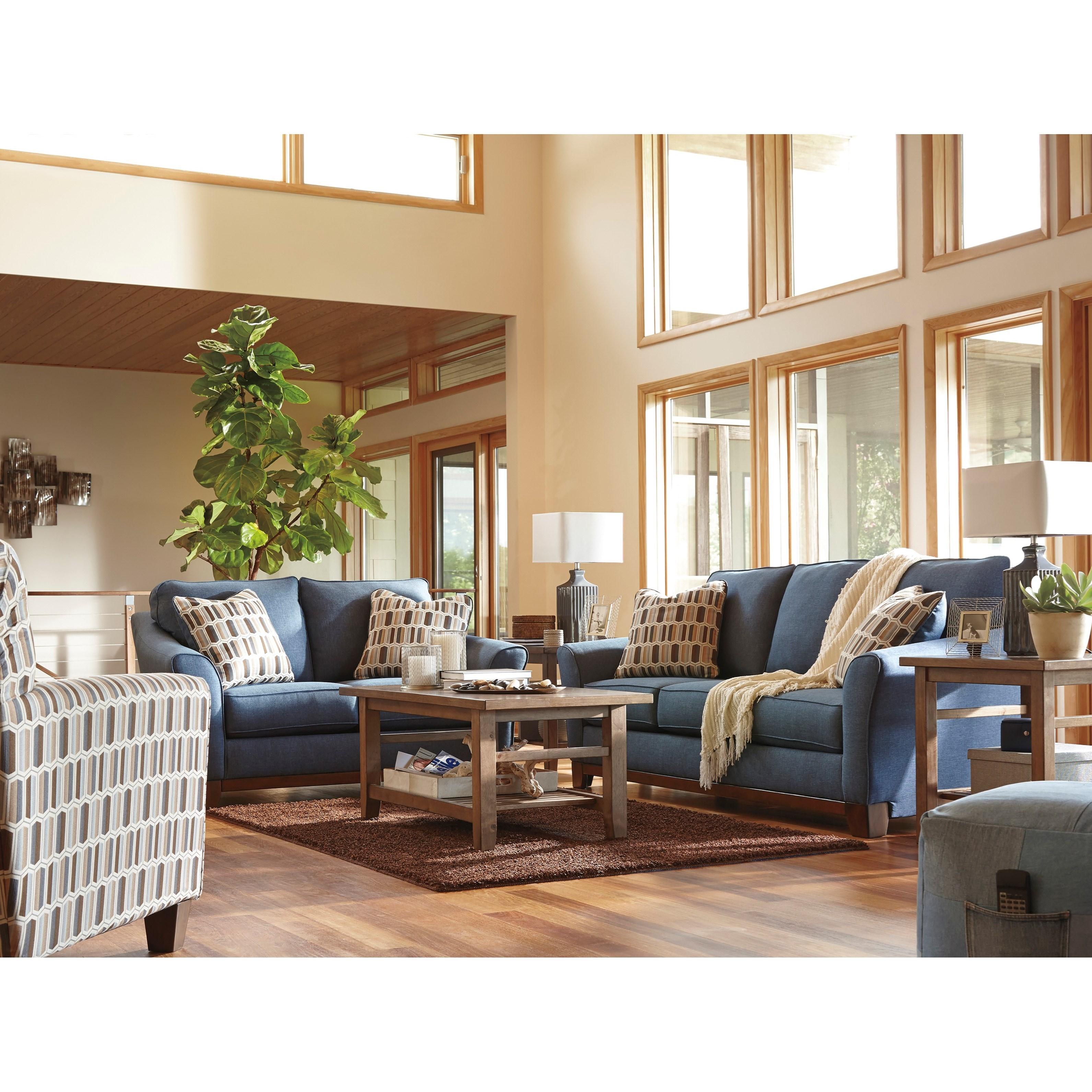 Benchcraft Janley Stationary Living Room Group - Item Number: 43807 Living Room Group 2