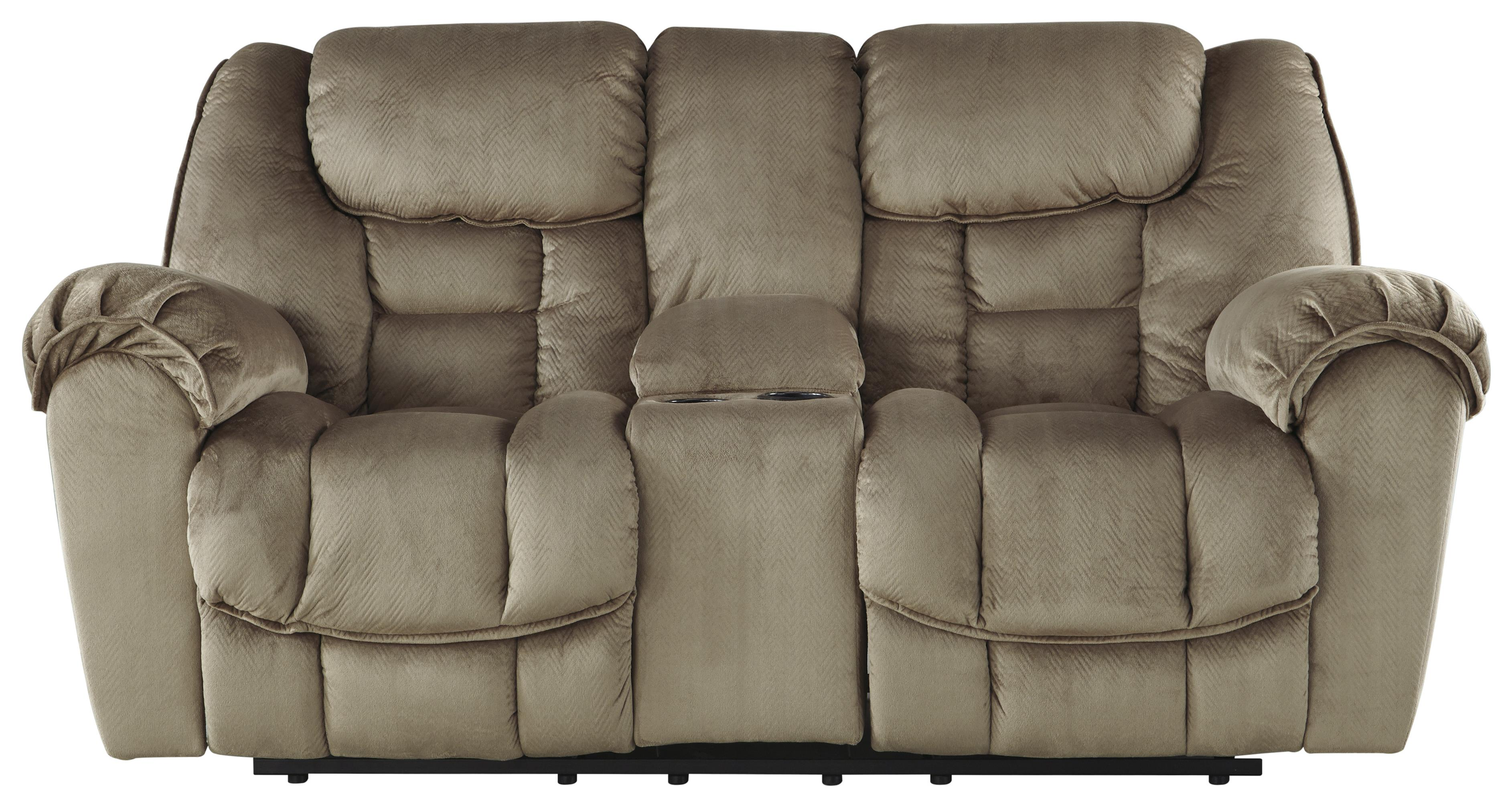 Ashley/Benchcraft Jodoca Glider Reclining Loveseat w/ Console - Item Number: 3660143