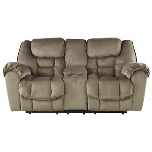 Ashley Jodoca Glider Reclining Loveseat w/ Console