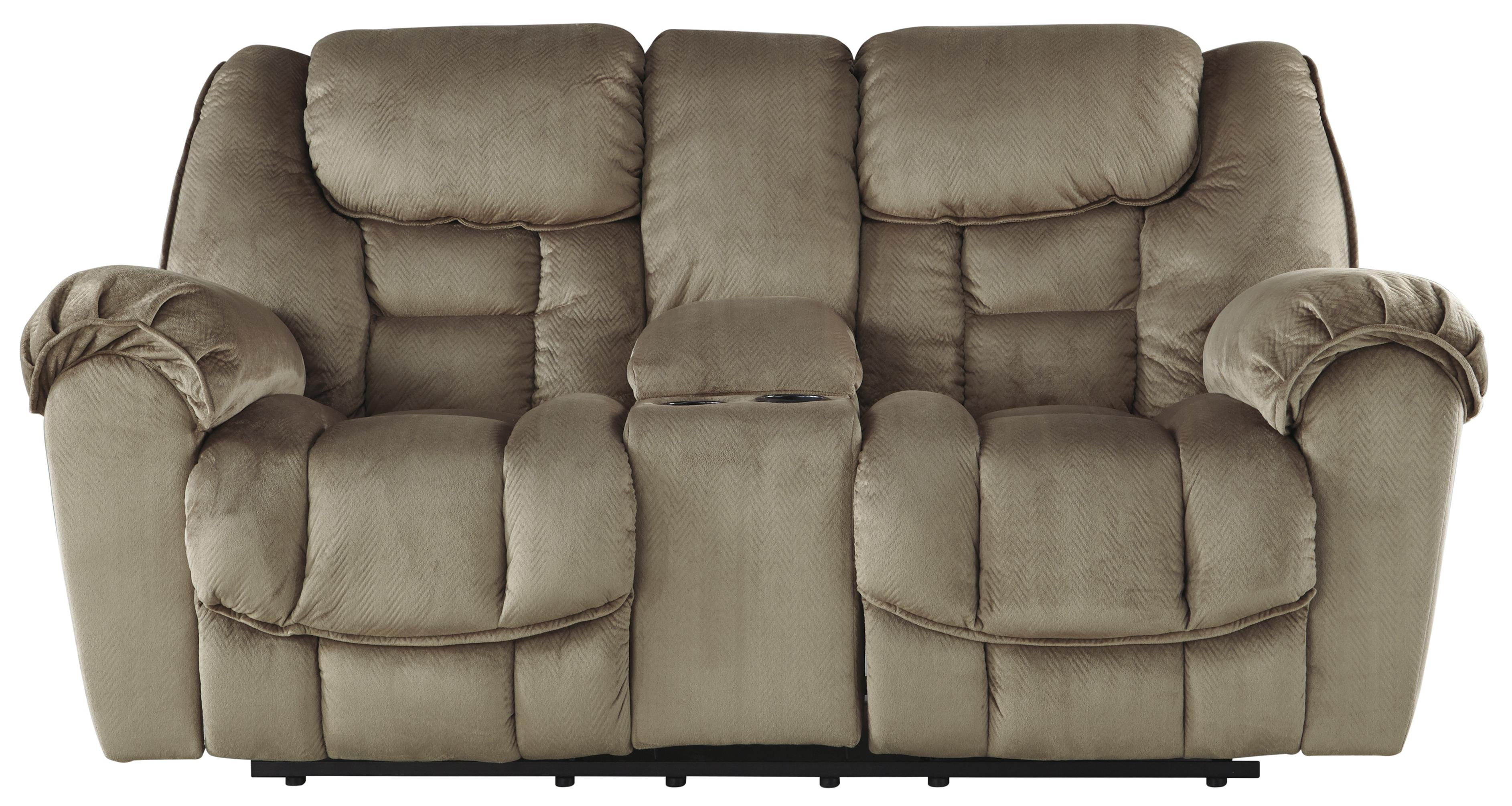 Benchcraft Jodoca Glider Recl Power Loveseat w/ Console - Item Number: 3660191