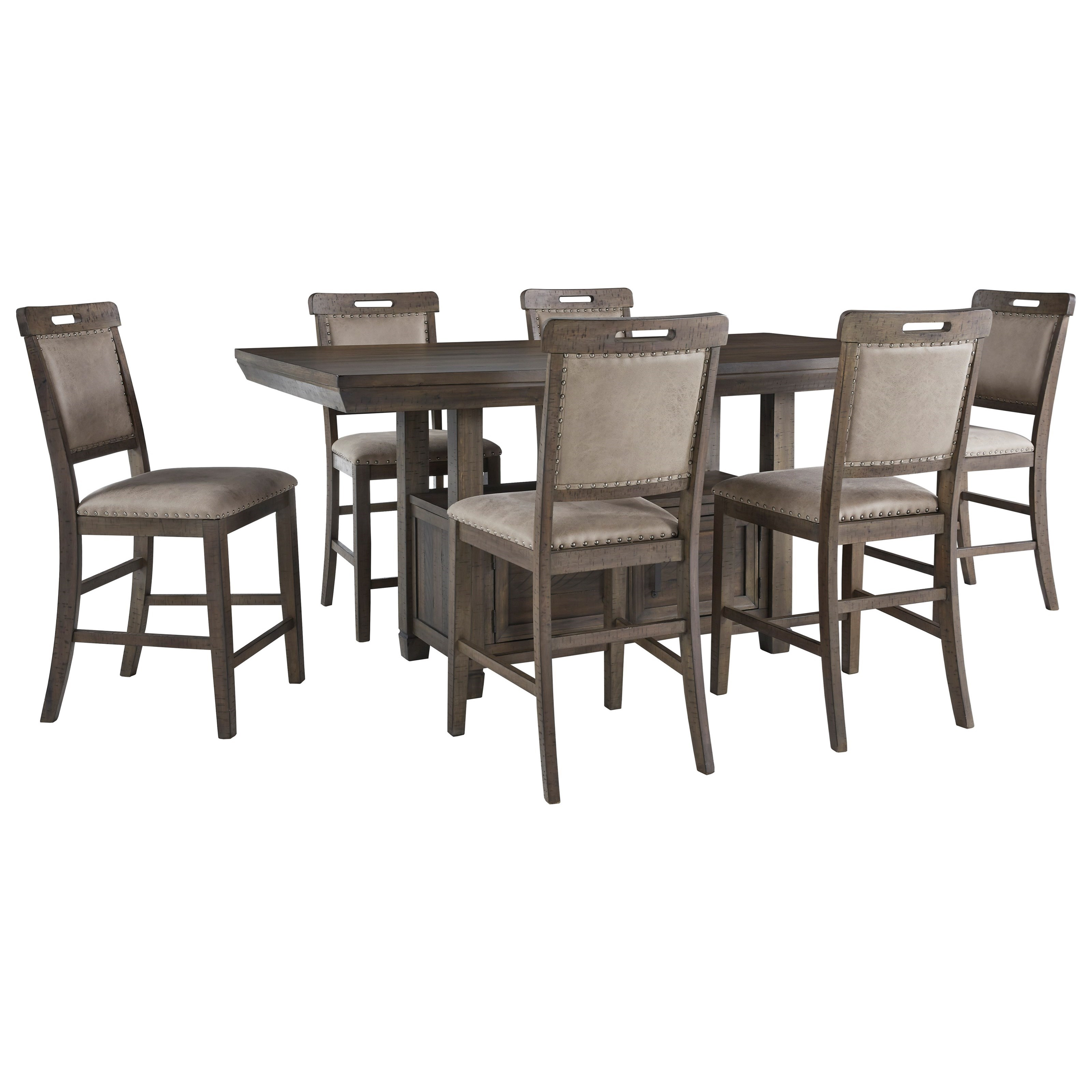 Johurst 7-Piece Counter Height Dining Set by Benchcraft at Walker's Furniture