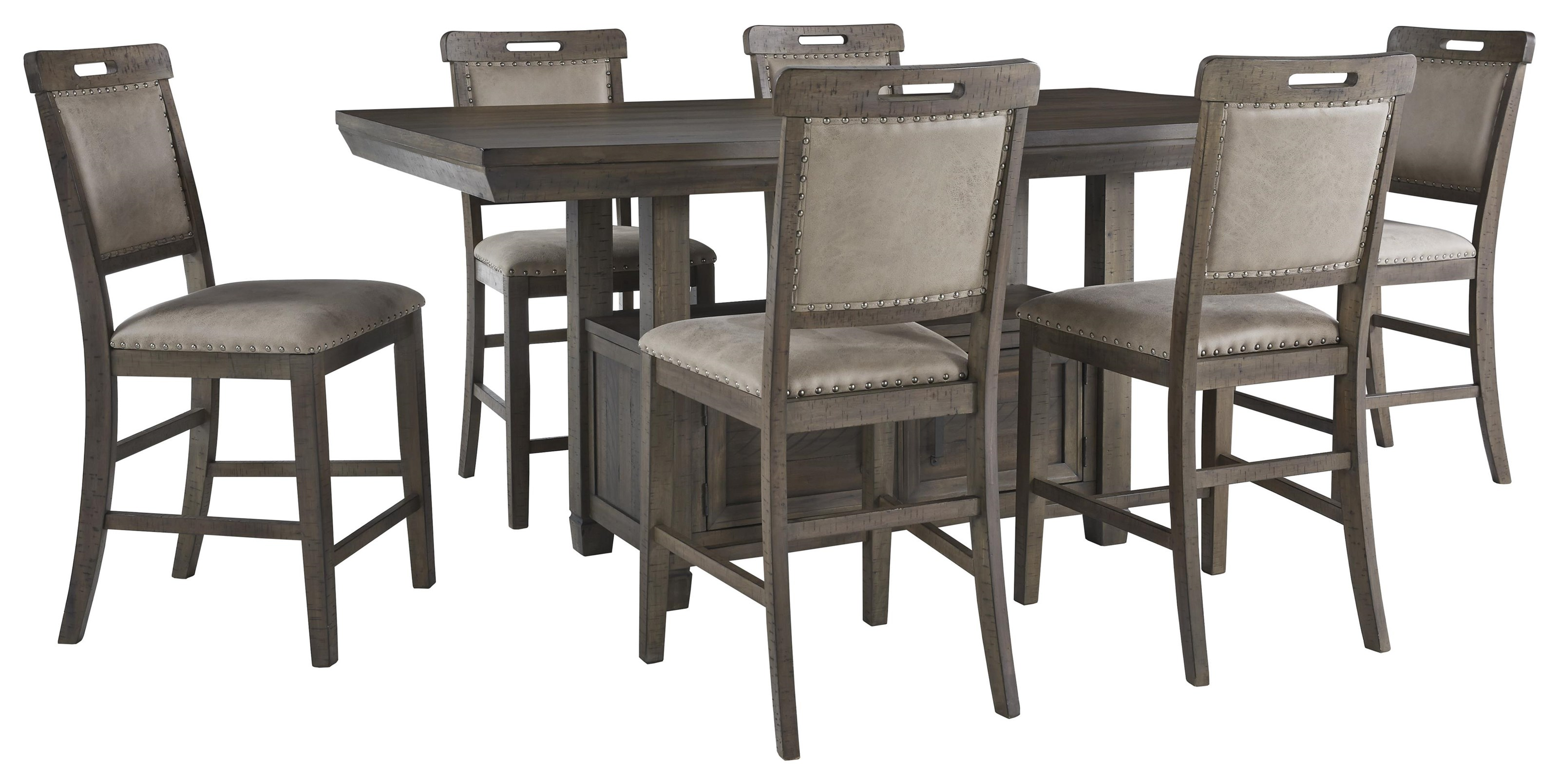 Sensational Johurst 7 Pc Dining Room Set Caraccident5 Cool Chair Designs And Ideas Caraccident5Info