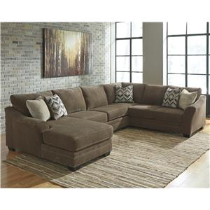Benchcraft Justyna 3-Piece Sectional with Left Chaise