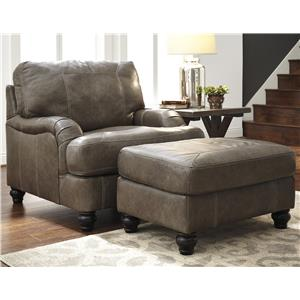 Ashley Kannerdy Chair & Ottoman