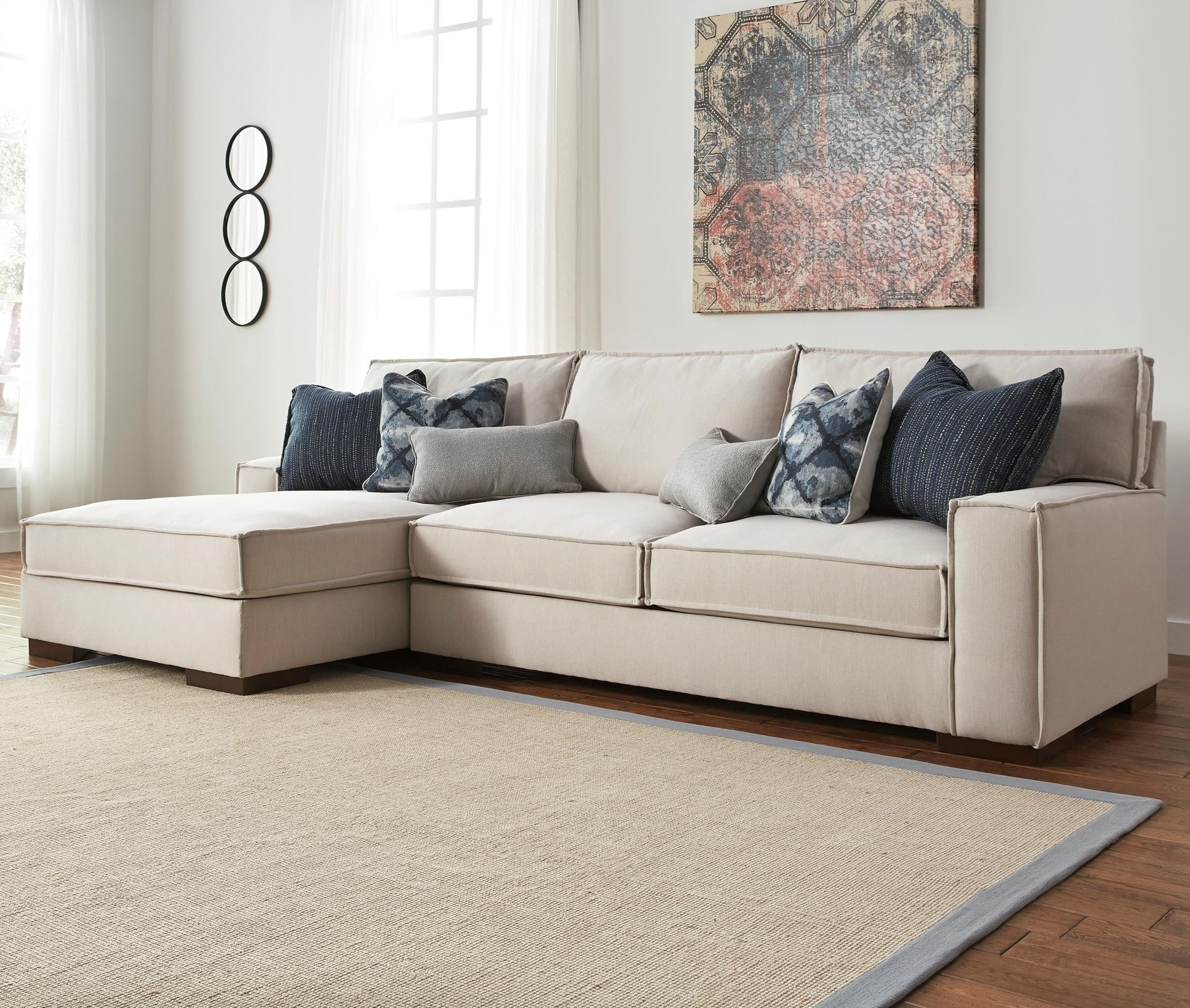 Benchcraft Kendleton 2-Piece Sectional with Left Chaise - Item Number: 5470416+67