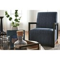 Benchcraft Kendleton Contemporary Accent Chair with Wood Arms