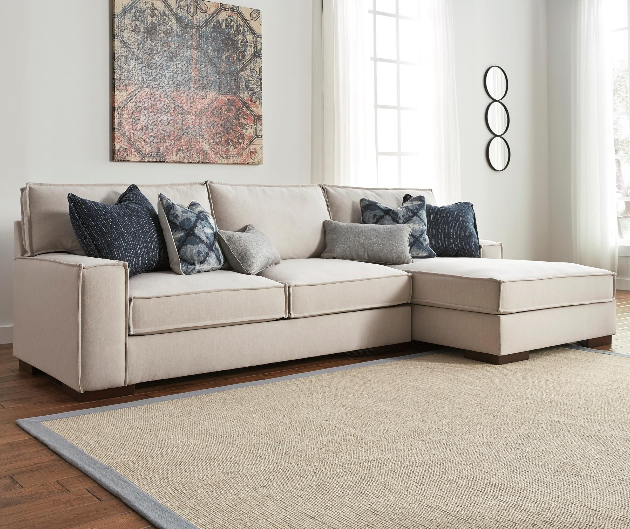 Benchcraft Kendleton 2-Piece Sectional with Right Chaise - Item Number: 5470466+17