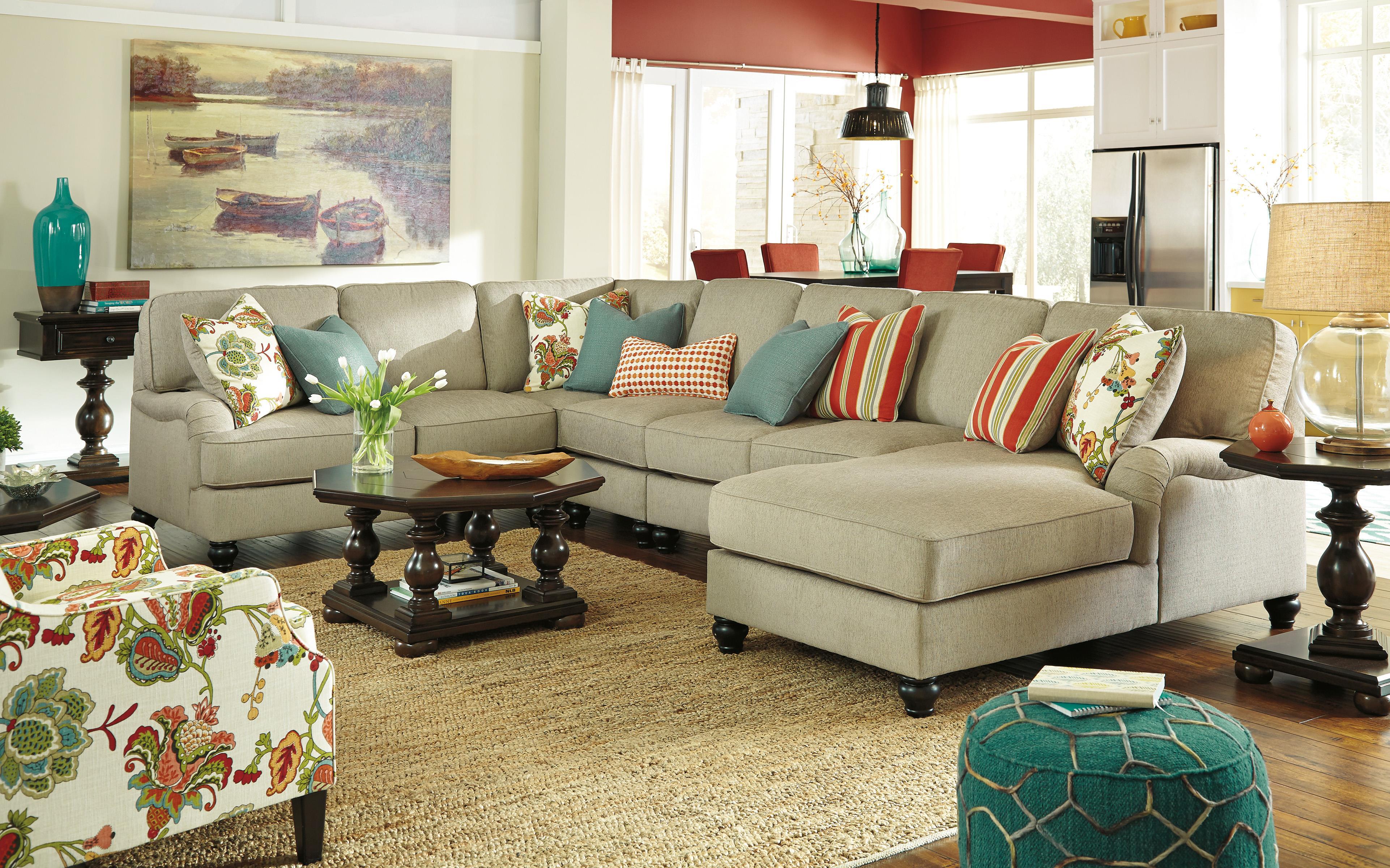 Ashley/Benchcraft Kerridon Stationary Living Room Group - Item Number: 26300 Living Room Group 14