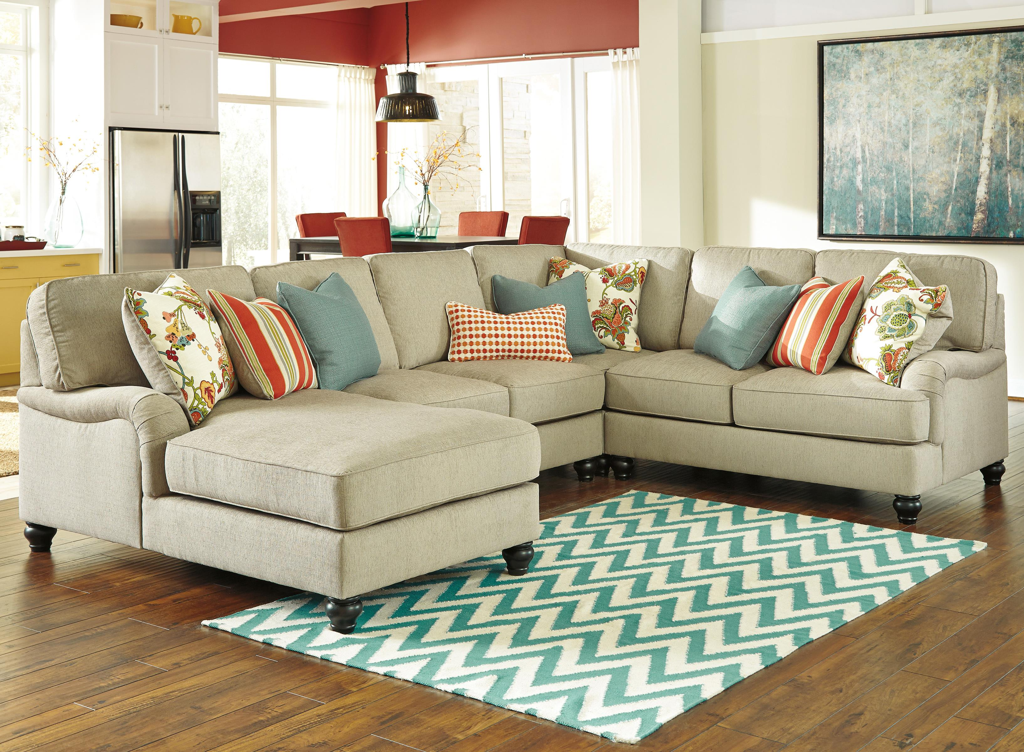 Ashley/Benchcraft Kerridon 4-Piece Sectional with Left Chaise - Item Number: 2630016+34+77+56