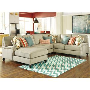Ashley/Benchcraft Kerridon 4-Piece Sectional with Left Chaise