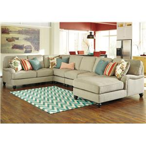 Ashley/Benchcraft Kerridon 5-Piece Sectional with Right Chaise
