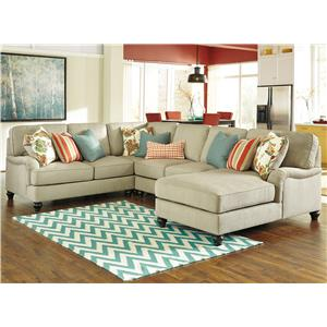 Benchcraft Kerridon 4-Piece Sectional with Right Chaise