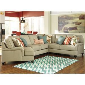 Benchcraft Kerridon 4-Piece Sectional with Left Cuddler