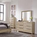 Benchcraft Kianni Contemporary Six Drawer Dresser and Mirror Set
