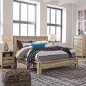 Benchcraft Kianni Contemporary Queen Platform Bed - Bed shown may not represent bed size indicated