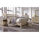 Benchcraft Kianni Contemporary King Panel Bed - Bed shown may not represent bed size indicated