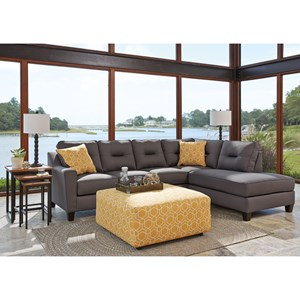 Benchcraft Kirwin Nuvella Sectional with Sleeper Sofa & Left Chaise in Performance Fabric Zak