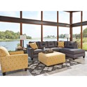 Benchcraft Kirwin Nuvella Stationary Living Room Group - Item Number: 99602 Living Room Group 4