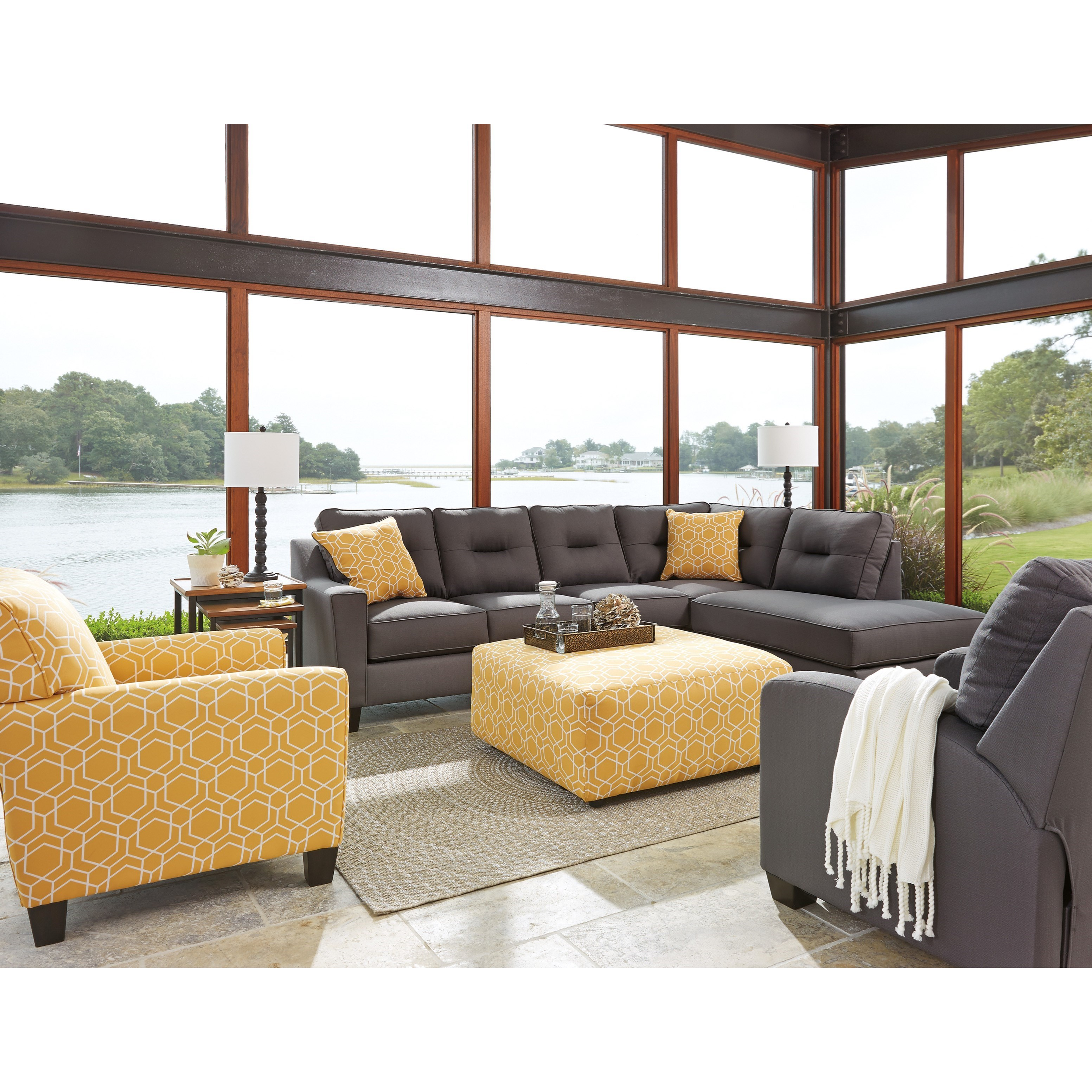 Benchcraft Kirwin Nuvella Stationary Living Room Group - Item Number: 99602 Living Room Group 8