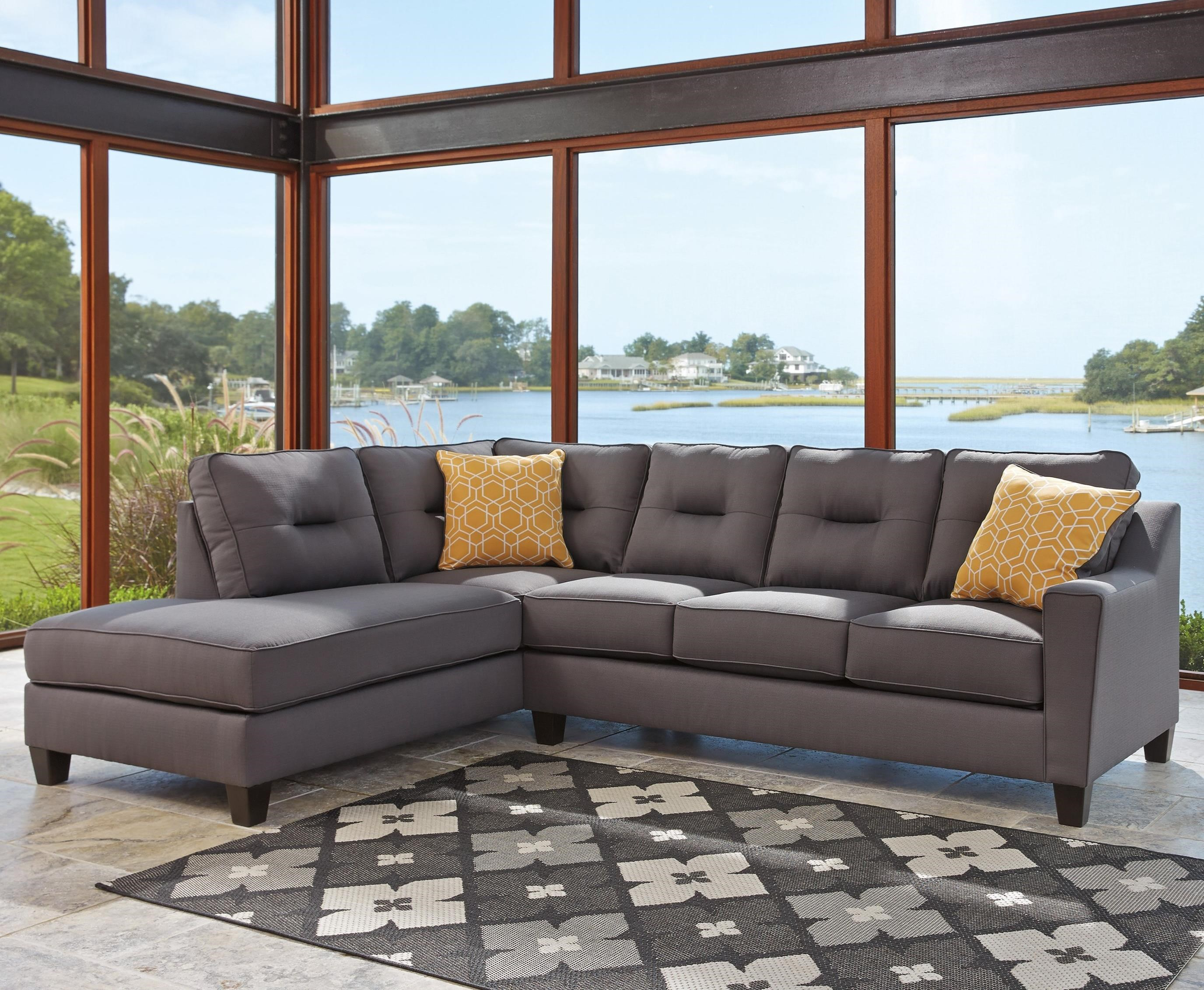 Benchcraft Kirwin Nuvella Sectional With Sleeper Sofa U0026 Chaise   Item  Number: 9960216+70