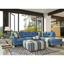 Benchcraft Kirwin Nuvella Stationary Living Room Group - Item Number: 99603 Living Room Group 2