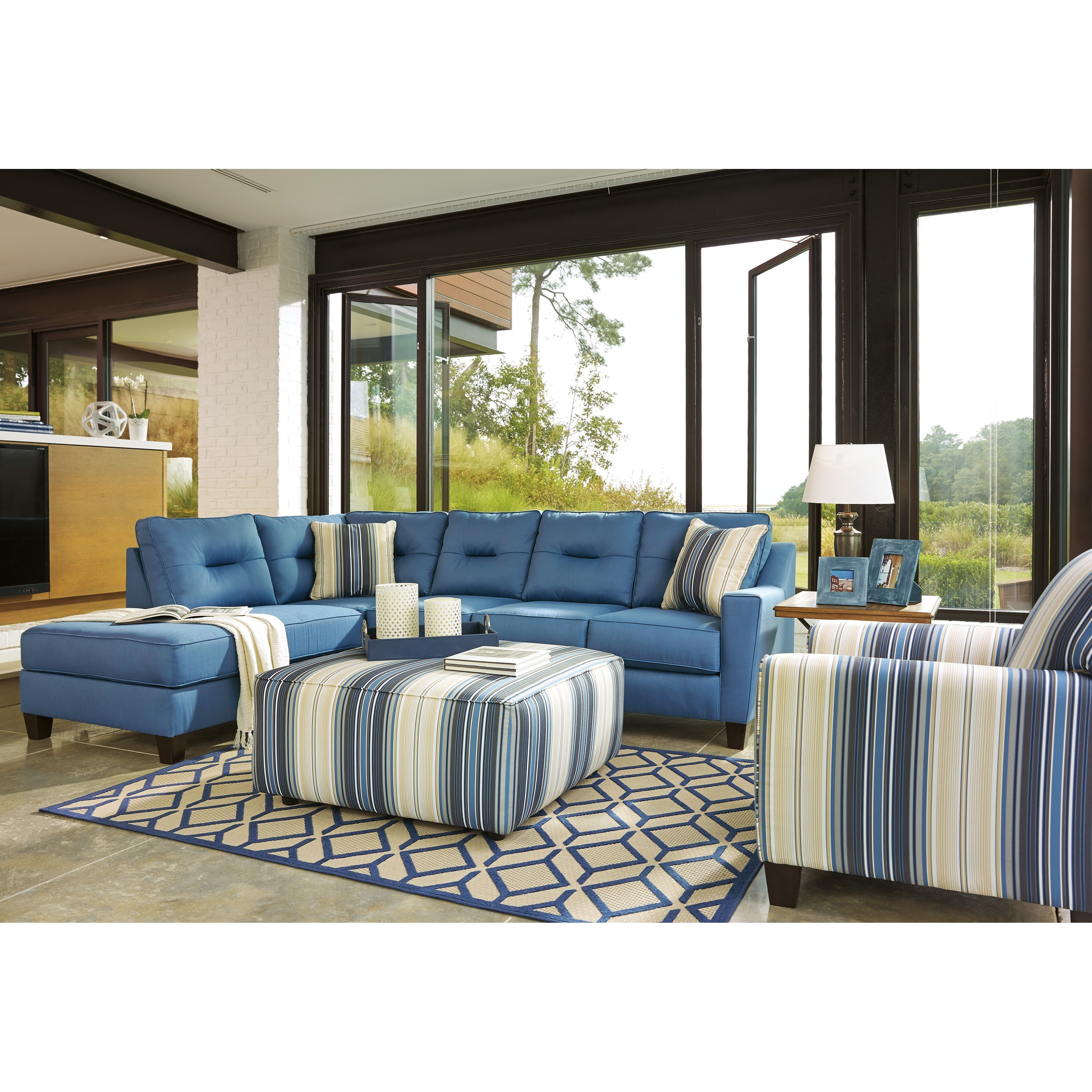 Benchcraft Kirwin Nuvella Stationary Living Room Group Value City Furniture Stationary