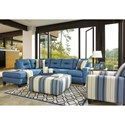 Benchcraft Kirwin Nuvella Stationary Living Room Group - Item Number: 99603 Living Room Group 3