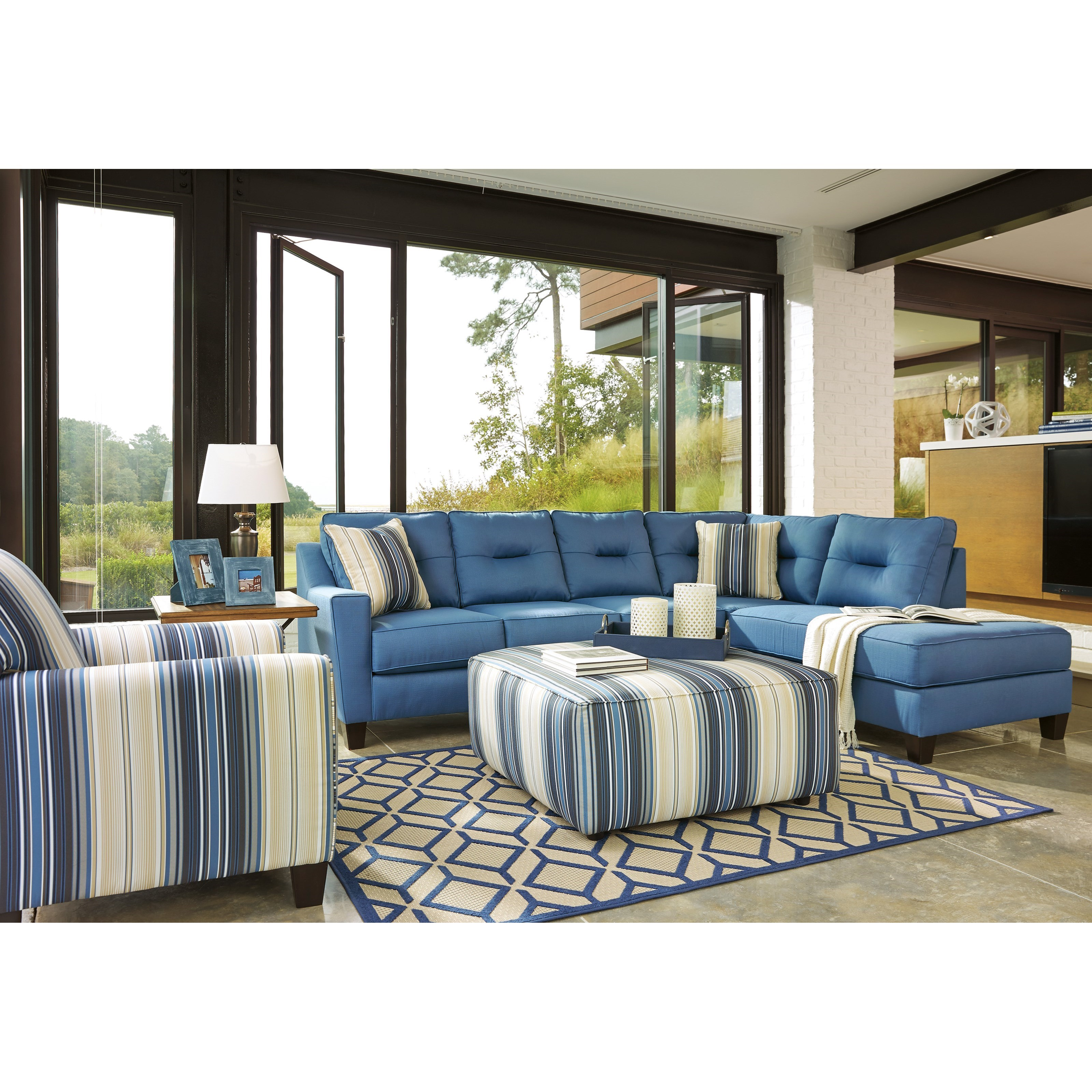 Benchcraft Kirwin Nuvella Stationary Living Room Group - Item Number: 99603 Living Room Group 4