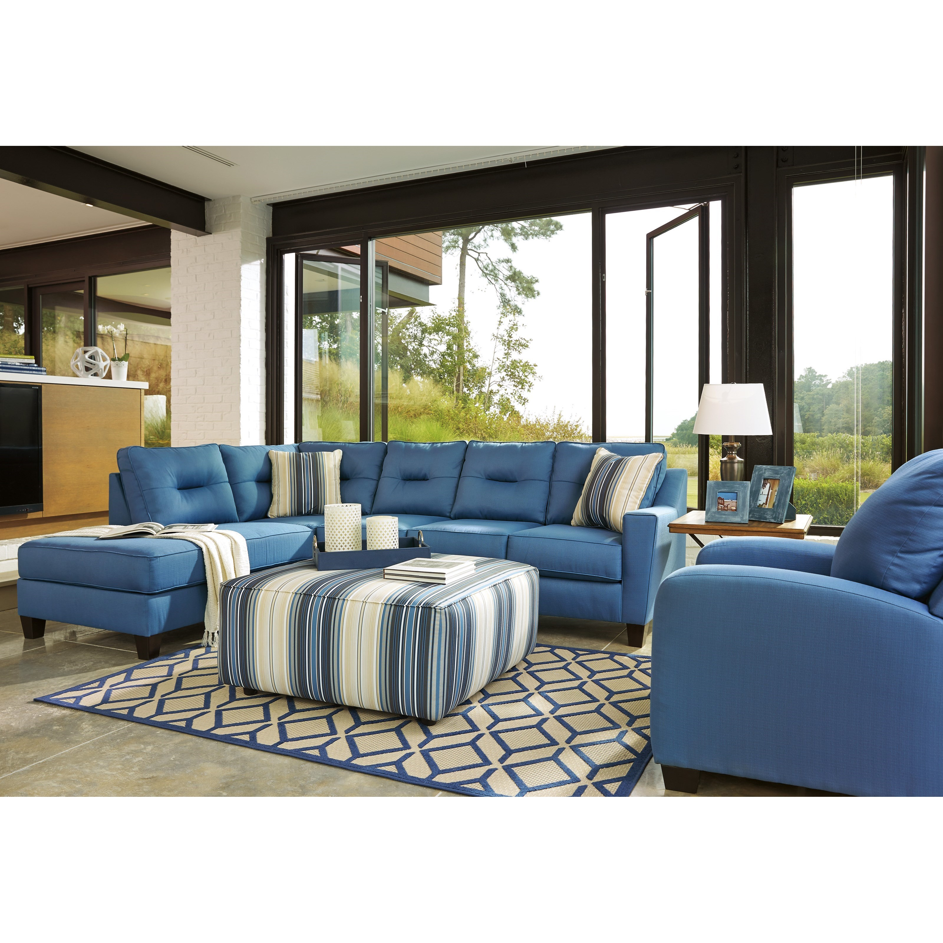 benchcraft kirwin nuvella stationary living room group household