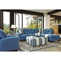 Benchcraft Kirwin Nuvella Stationary Living Room Group - Item Number: 99603 Living Room Group 6