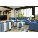 Benchcraft Kirwin Nuvella Stationary Living Room Group - Item Number: 99603 Living Room Group 7