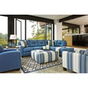 Benchcraft Kirwin Nuvella Stationary Living Room Group - Item Number: 99603 Living Room Group 8