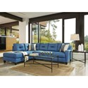 Benchcraft Kirwin Nuvella Sectional with Left Chaise in Performance Fabric