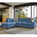 Benchcraft Kirwin Nuvella Sectional with Sleeper Sofa & Chaise - Item Number: 9960316+70