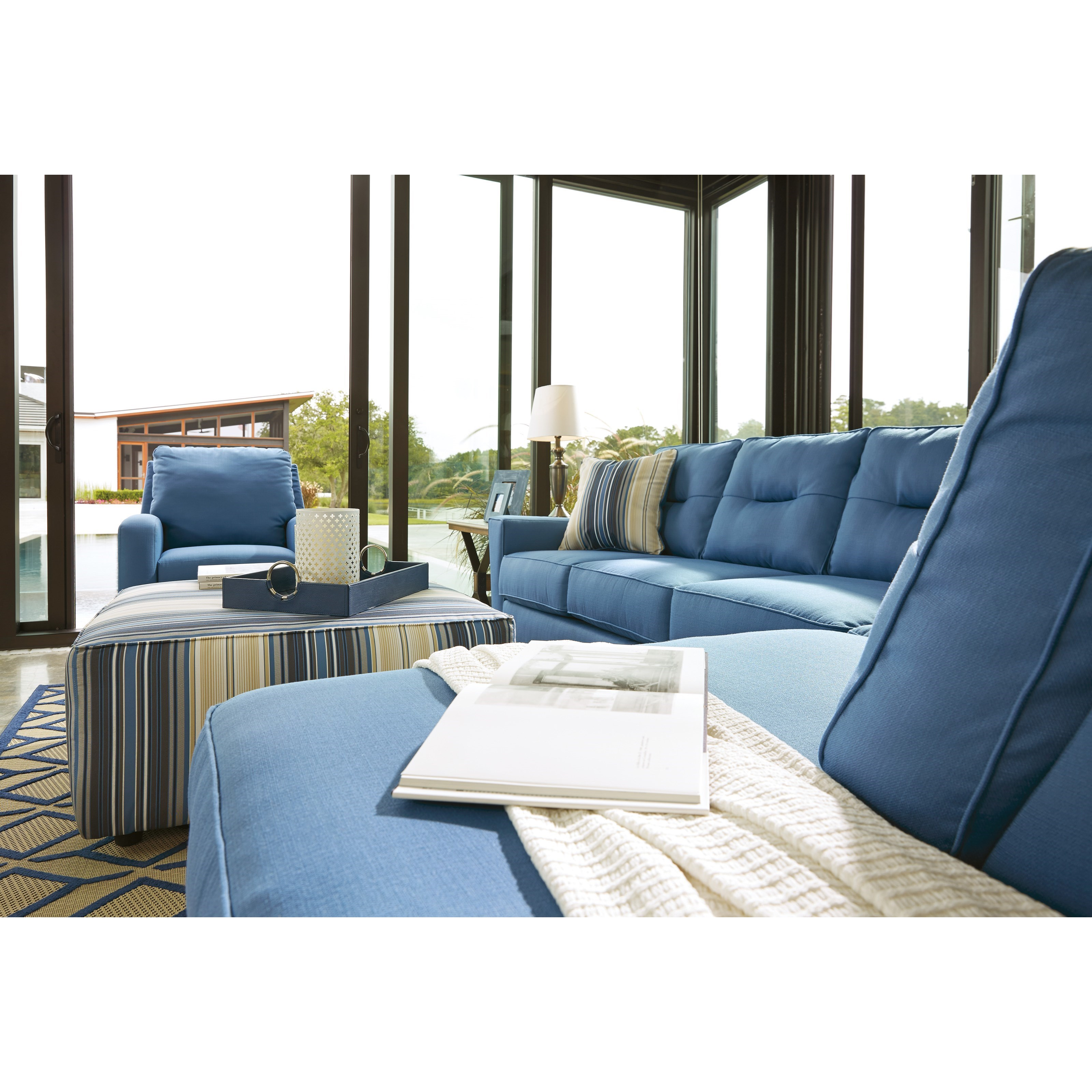 Benchcraft Kirwin Nuvella Sectional With Right Chaise In