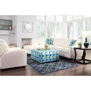 Benchcraft Kirwin Nuvella Stationary Living Room Group