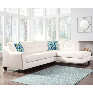 Benchcraft Kirwin Nuvella Sectional with Chaise