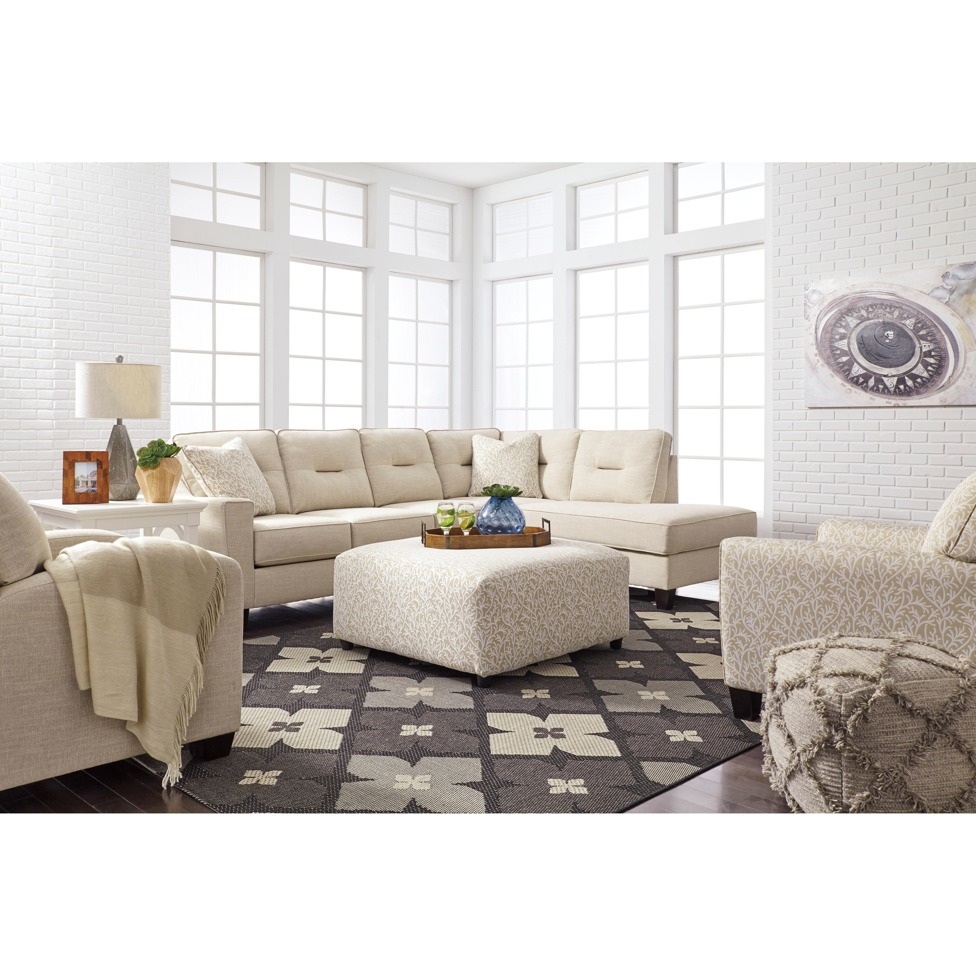 Benchcraft Kirwin Nuvella Stationary Living Room Group - Item Number: 99605 Living Room Group 8