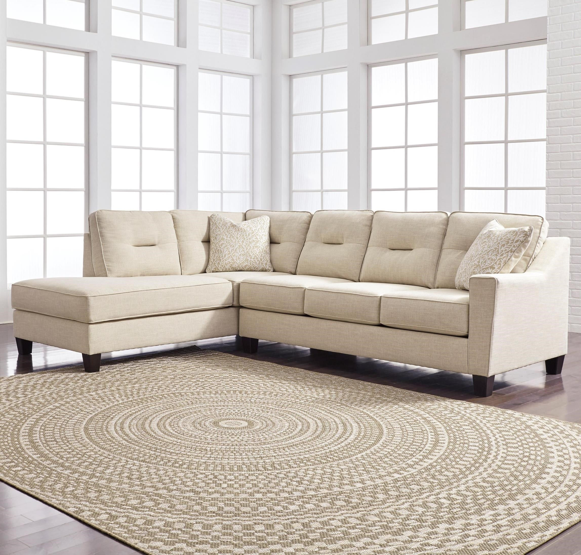 Kirwin nuvella sectional with sleeper sofa left chaise for K furniture fabric world